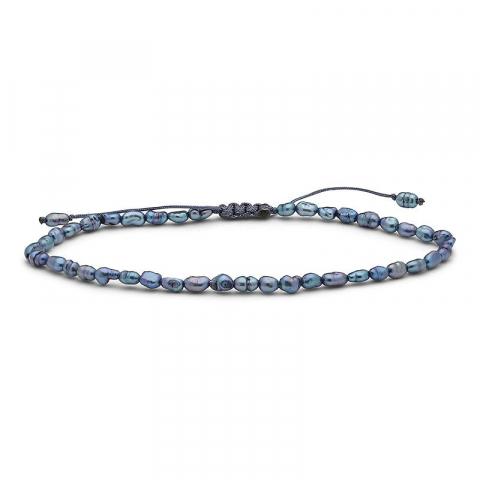 Eleganter dunkelblaumetallic süßwasserperlekette mit süßwasserperle.