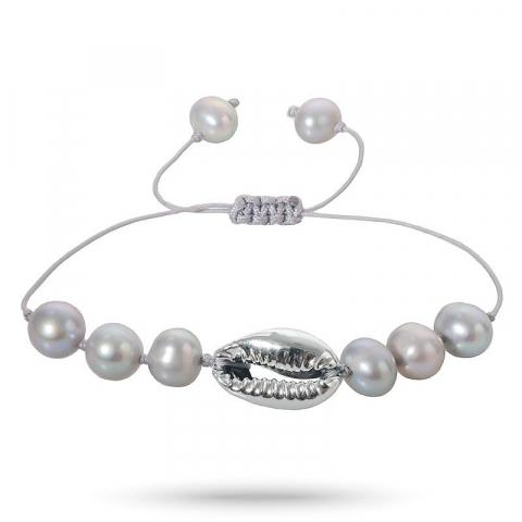 Smart perle shell muschel armband aus seidenschnur 17 cm plus 5 cm x 10 mm