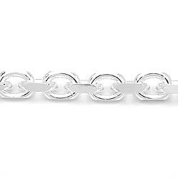 Facettenschliff Ankerarmband aus Silber 21 cm x 8,8 mm