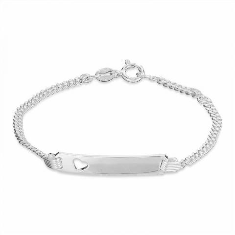 Schöner herz armband aus silber