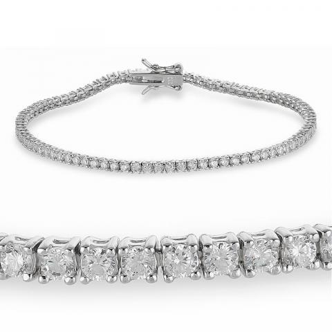 schön Zirkon Tennisarmband aus Silber  x 2,7 mm