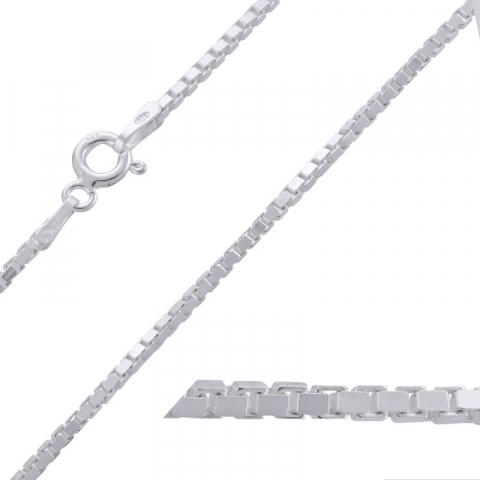 Fein Veneziahalskette aus Silber 45 cm x 1,4 mm