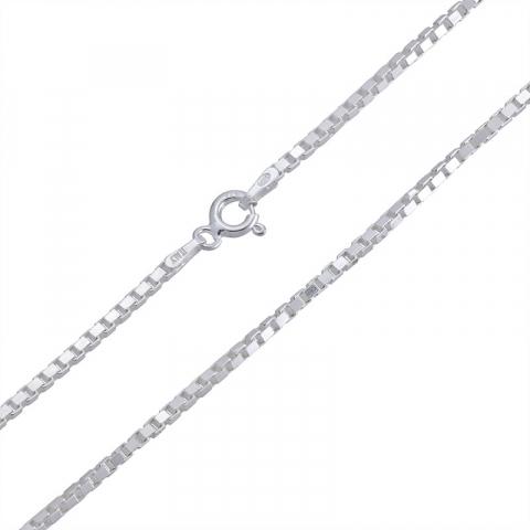 Elegant Veneziahalskette aus Silber 50 cm x 1,6 mm