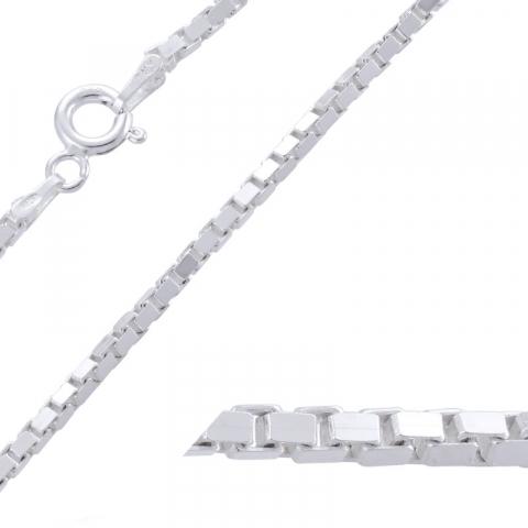Fein Veneziahalskette aus Silber 45 cm x 1,8 mm