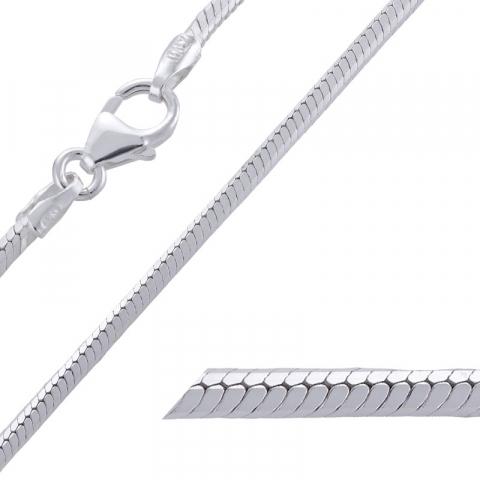 Smart Schlangenhalskette aus Silber 42 cm x 1,6 mm