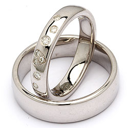 Trauringe in Silber 0,13 ct