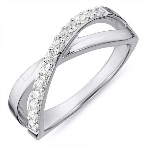 Ring aus rhodiniertem Silber