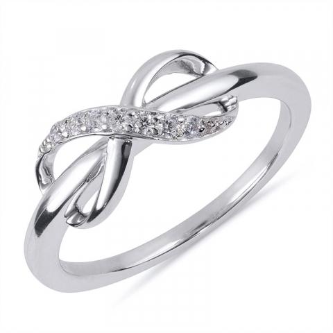 Schön infinity Ring aus rhodiniertem Silber