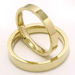 Trauringe aus 14 Karat Gold - set