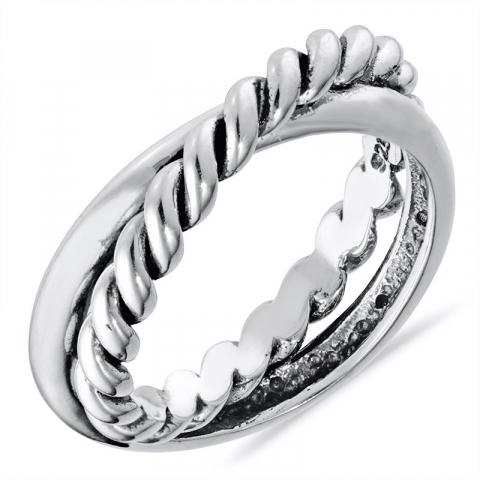 Schön Ring aus oxidiertem Sterlingsilber