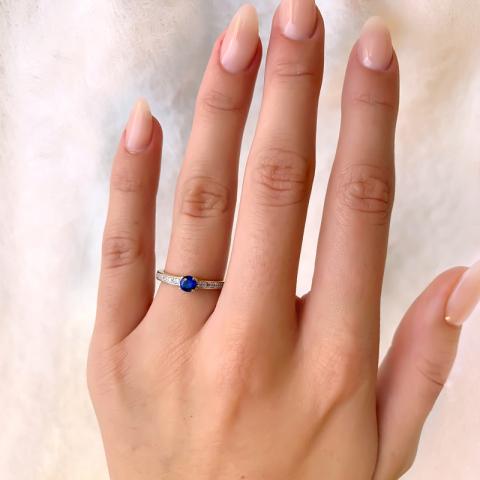 Schöner vergoldetem fingerringe aus vergoldetem Sterlingsilber