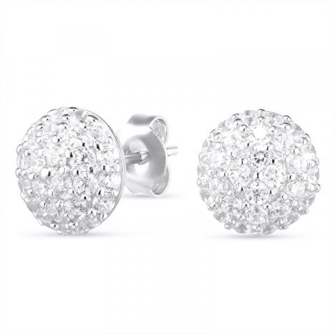 Runden Ohrringe in Silber