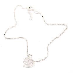 Fein Herz Fußkette aus Silber