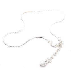 Schön Herz Fußkette aus Silber