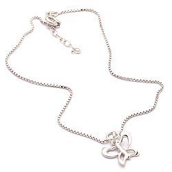Schmetterling Fußkette aus Silber