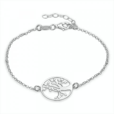 runder Lebensbaum Armband aus Silber und Anhänger aus Silber