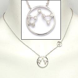 Sternzeich schütze Halskette aus Silber