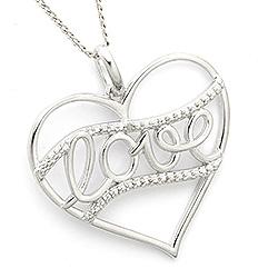 Schön Love Anhänger aus Silber