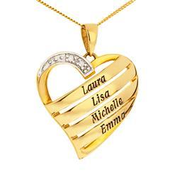 Herz Namenshalskette in 9 Karat Gold