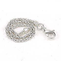 Schöner königarmband aus silber 18,5 cm x 2,4 mm