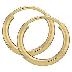 13 mm Kreole in 8 Karat Gold