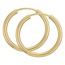 20 mm BNH Kreolenohrringe in 8 Karat Gold