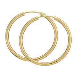 30 mm BNH Kreolenohrringe in 8 Karat Gold