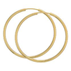 40 mm BNH Kreole in 8 Karat Gold