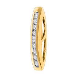 Süßer Diamant Anhänger in 14 karat Gold 0,14 ct