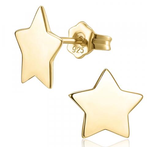 Schönen Stern Ohrringe in vergoldetem Sterlingsilber