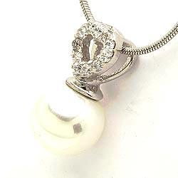 Weißem zirkon herzförmiger anhänger aus silber