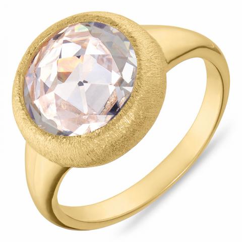 Runder Ring aus vergoldetem Sterlingsilber