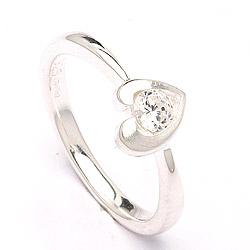Schön Herz Ring aus Silber