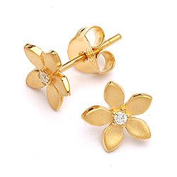 Lieben Blumenohrringe in vergoldetem Sterlingsilber