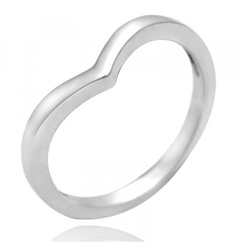 Einfacher v ring aus silber