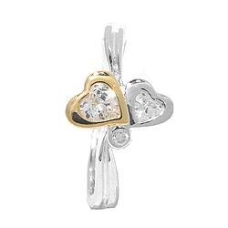 Herz Ring aus Silber mit vergoldetem Sterlingsilber