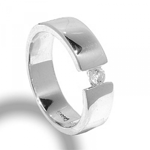 Elegant zirkon ring aus silber