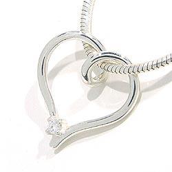 Herz Anhänger aus Silber