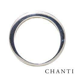 Einfacher zirkon ring aus silber