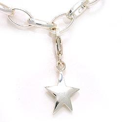 Stern Charm Anhänger aus Silber