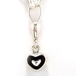 Herz Charm Anhänger aus Silber